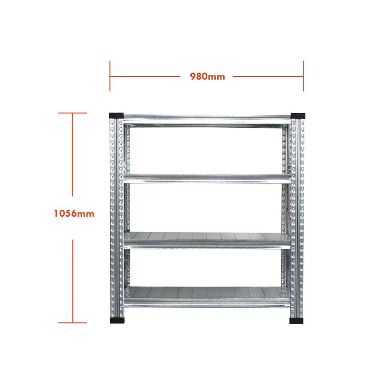 THE TASTEMAKERS & CO.|幅98.0 × 高さ105.6cm(シェルフ4段)世界のメゾンブランドのバックヤードでも愛用される、組み立て簡単、軽量スチールラック | 4 TIER STEEL SHELF (W900シリーズ)