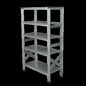 幅98.0 × 高さ158.5cm(シェルフ5段)世界のメゾンブランドのバックヤードでも愛用される、組み立て簡単、軽量スチールラック | 5 TIER STEEL SHELF(W900シリーズ)