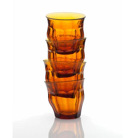 「発想の転換」を大切にするグラス 「発想の転換」を大切にするグラス   TIPSY GLASS 225ml 2個セット AMBER(在庫限り)