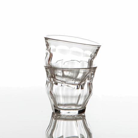 「発想の転換」を大切にするグラス 「発想の転換」を大切にするグラス   TIPSY GLASS 225ml 2個セット CLEAR(在庫限り)