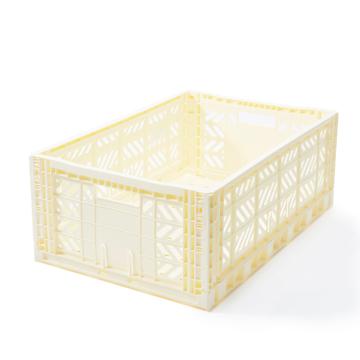 """必要な時だけ使える「折りたたみ式」収納ケース 収納上手は、""""クイック""""に整理整頓 - """"10秒""""で組み立てられる   MALTIWAY BOX / Lサイズ WHITE (VANILLA)(完売)"""