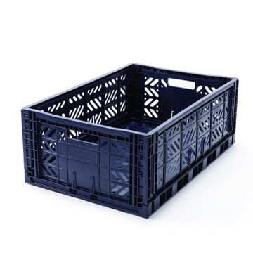 """必要な時だけ使える「折りたたみ式」収納ケース 収納上手は、""""クイック""""に整理整頓 - """"10秒""""で組み立てられる   MALTIWAY BOX / Lサイズ NAVY(完売)"""