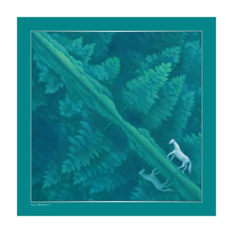 美しい日本の四季をまとう|自然が持つ「生」のエネルギーを、首元にまとう|スカーフ・東山魁夷コレクション|緑響く