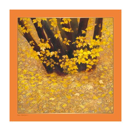 美しい日本の四季をまとう|自然が持つ「生」のエネルギーを、首元にまとう|スカーフ・東山魁夷コレクション|行く秋