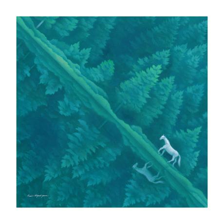 美しい日本の四季をまとう|使う人の生活やアイデアで、自由自在に物を包む|風呂敷(フロシキ)・東山魁夷コレクション|緑響く