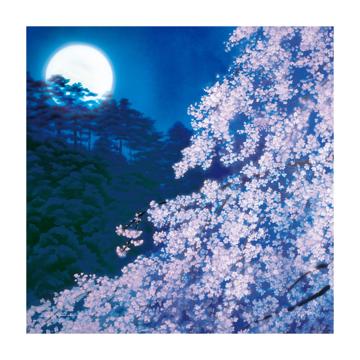 美しい日本の四季をまとう|使う人の生活やアイデアで、自由自在に物を包む|風呂敷(フロシキ)・東山魁夷コレクション|宵桜