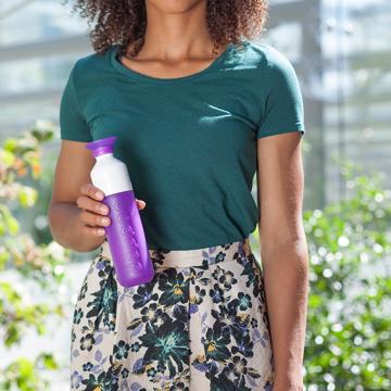 毎日持ち歩きたい「ウォーターボトル」|毎日の水分補給をサポートする「水」専用ボトル|Dopper Original|DEEP PURPLE(在庫限り)