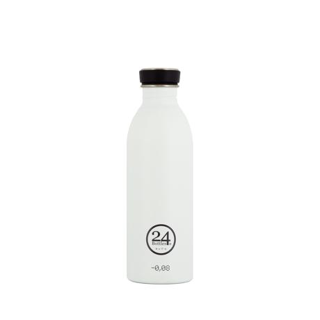 いつでも持ち歩きたくなる「マイボトル」|これ1本で、年間3,000本のペットボトルに相当 - 環境にも優しい、スタイリッシュなイタリアデザイン・ステンレスボトル | URBAN BOTTLE 500ml|WHITE