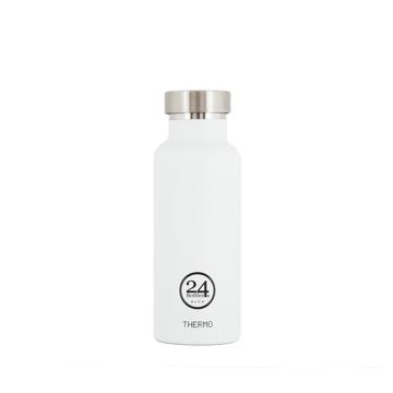 まだ、「ペットボトルの水」 買ってるの?|驚異の保冷24時間、保温12時間 – 環境にも優しい、スタイリッシュなイタリアデザイン・ステンレスボトル | THERMO BOTTLE 500ml|WHITE(完売)