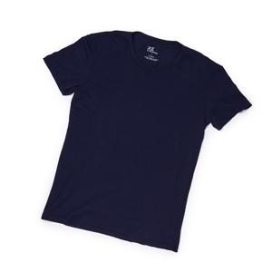 上質なTシャツを買えるようになった大人たちへ – 思わず頬ずりしたくなる肌触りのスーピマコットン・Tシャツ | クルーネックTシャツ / NAVY
