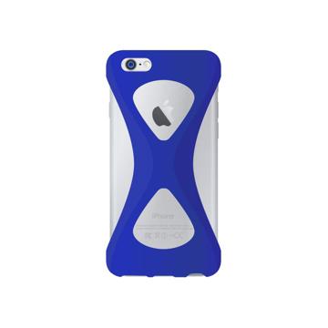 """iPhoneは、""""指1本""""で落とさない iPhone 6/6s 用   iPhone は""""指1本""""で持つ – 落とす不安から解放され、操作の""""自由度""""が広がる iPhone カバー   Palmo BLUE"""