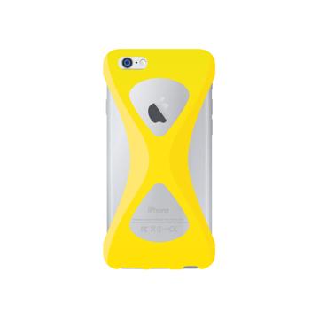 """iPhoneは、""""指1本""""で落とさない iPhone 6/6s 用   iPhone は""""指1本""""で持つ – 落とす不安から解放され、操作の""""自由度""""が広がる iPhone カバー   Palmo YELLOW"""