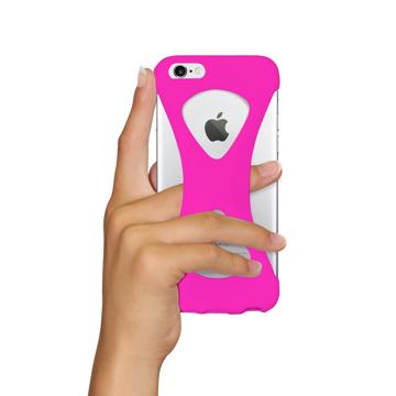 """iPhoneは、""""指1本""""で落とさない iPhone 6/6s 用   iPhone は""""指1本""""で持つ – 落とす不安から解放され、操作の""""自由度""""が広がる iPhone カバー   Palmo PINK"""