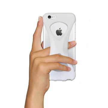 """iPhoneは、""""指1本""""で落とさない iPhone 6/6s 用   iPhone は""""指1本""""で持つ – 落とす不安から解放され、操作の""""自由度""""が広がる iPhone カバー   Palmo WHITE"""