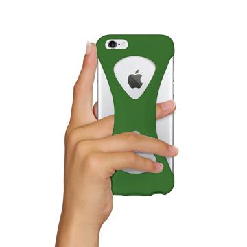 """iPhoneは、""""指1本""""で落とさない iPhone 6/6s 用   iPhone は""""指1本""""で持つ – 落とす不安から解放され、操作の""""自由度""""が広がる iPhone カバー   Palmo GREEN"""