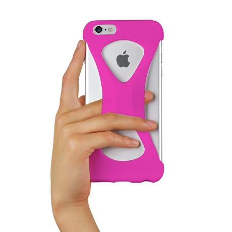 "iPhoneは、""指1本""で落とさない|iPhone 6 Plus /6s Plus 用 | iPhone は""指1本""で持つ – 落とす不安から解放され、操作の""自由度""が広がる iPhone カバー | Palmo for iPhone6 Plus / iPhone 6s Plus|PINK"
