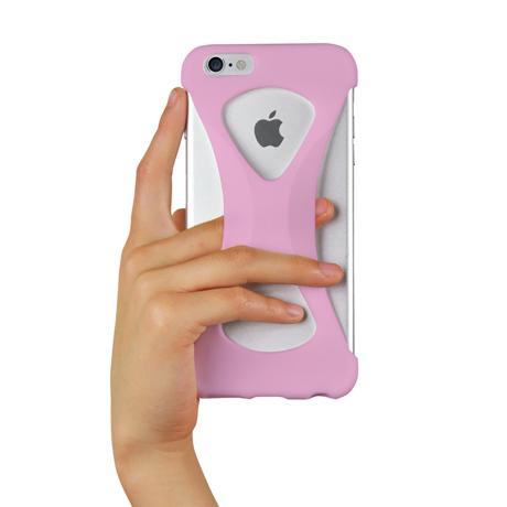 "iPhoneは、""指1本""で落とさない|iPhone 6 Plus /6s Plus 用 | iPhone は""指1本""で持つ – 落とす不安から解放され、操作の""自由度""が広がる iPhone カバー | Palmo for iPhone6 Plus / iPhone 6s Plus|LIGHT PINK"