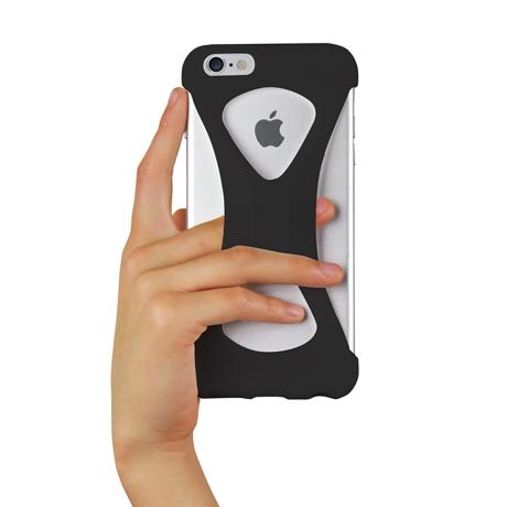 "iPhoneは、""指1本""で落とさない|iPhone 6 Plus /6s Plus 用 | iPhone は""指1本""で持つ – 落とす不安から解放され、操作の""自由度""が広がる iPhone カバー | Palmo for iPhone6 Plus / iPhone 6s Plus|BLACK"