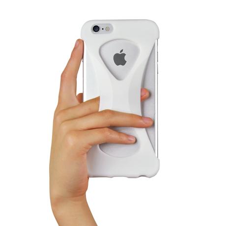 "iPhoneは、""指1本""で落とさない|iPhone 6 Plus /6s Plus 用 | iPhone は""指1本""で持つ – 落とす不安から解放され、操作の""自由度""が広がる iPhone カバー | Palmo for iPhone6 Plus / iPhone 6s Plus|WHITE"