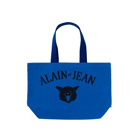 旅する猫「アランとジャン」|猫から教わった人生で大切なこと - 旅する猫「アランとジャン」の言葉と表情に毎日幸せを感じられる帆布トートバッグ(普段使い・小旅行兼用)|BLUE