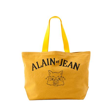 旅する猫「アランとジャン」|猫から教わった人生で大切なこと - 旅する猫「アランとジャン」の言葉と表情に毎日幸せを感じられる帆布トートバッグ(普段使い・小旅行兼用)|YELLOW