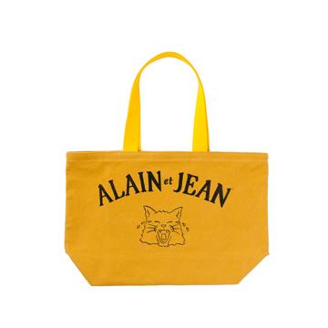 旅する猫「アランとジャン」|猫から教わった人生で大切なこと - 旅する猫「アランとジャン」の言葉と表情に毎日幸せを感じられる帆布トートバッグ(普段使い・小旅行兼用)|YELLOW(在庫限り)