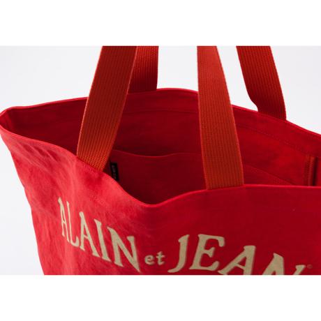 旅する猫「アランとジャン」|猫から教わった人生で大切なこと - 旅する猫「アランとジャン」の言葉と表情に毎日幸せを感じられる帆布トートバッグ(普段使い・小旅行兼用)|RED