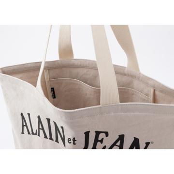 旅する猫「アランとジャン」|猫から教わった人生で大切なこと - 旅する猫「アランとジャン」の言葉と表情に毎日幸せを感じられる帆布トートバッグ(普段使い・小旅行兼用)|NATURAL(在庫限り)