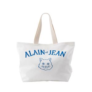 猫から教わった人生で大切なこと - 旅する猫「アランとジャン」の言葉と表情に毎日幸せを感じられる帆布トートバッグ(普段使い・小旅行兼用)