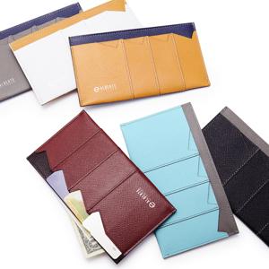 《カードホルダー》カードを見える化、支払いも収納もスマートな革財布|ALBERTE