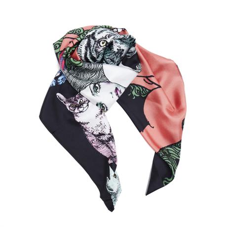 ファッションに興奮を与えるストール|宇野亜喜良・描き下ろし第二弾『猫族(ねこぞく)』スカーフ|