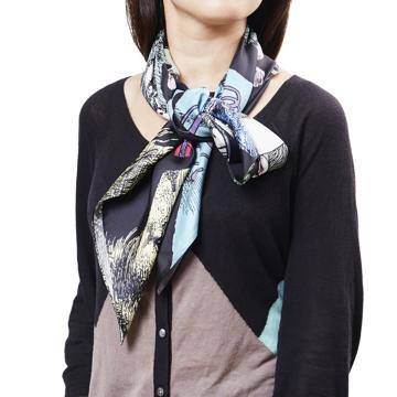 ファッションに興奮を与えるストール|宇野亜喜良・描き下ろし第二弾『猫族(ねこぞく)』スカーフ