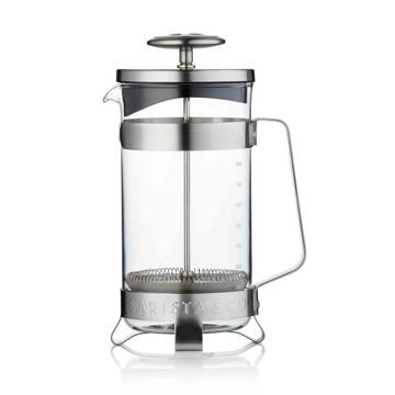 コーヒーが毎日の楽しみになる「フレンチプレス」|8カップ用 | 手軽に香り高いコーヒーが淹れられる、洗練されたデザインの「フレンチプレス」/ 8CUP PLUNGE POT|Electric Steel(在庫限り)