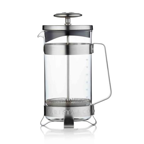 コーヒーが毎日の楽しみになる「フレンチプレス」|8カップ用 | 手軽に香り高いコーヒーが淹れられる、洗練されたデザインの「フレンチプレス」/ 8CUP PLUNGE POT|Electric Steel