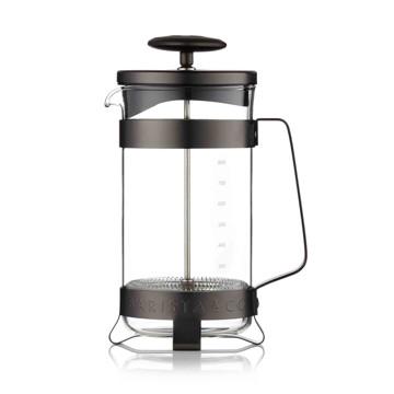 コーヒーが毎日の楽しみになる「フレンチプレス」|8カップ用 | 手軽に香り高いコーヒーが淹れられる、洗練されたデザインの「フレンチプレス」/ 8CUP PLUNGE POT|Gunmetal(在庫限り)