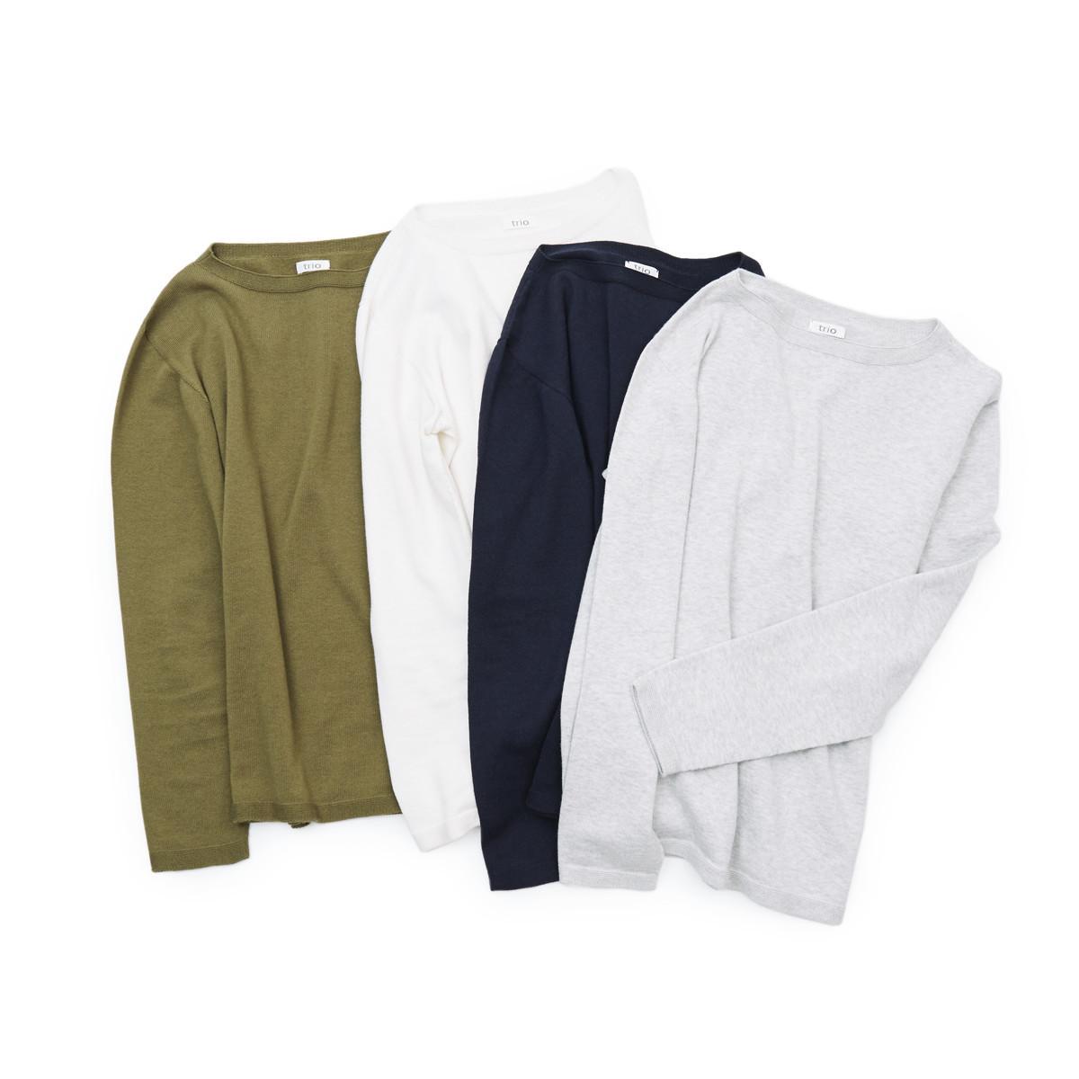 """縫い目がない「カシミア混ニット」 Sサイズ   ジャケットに合わせるだけで""""着こなし""""に磨きがかかる。縫い目がなく、着心地抜群。自宅で洗濯しても伸びにくいホールガーメント・ロングスリーブニット(MONOCO 限定)"""