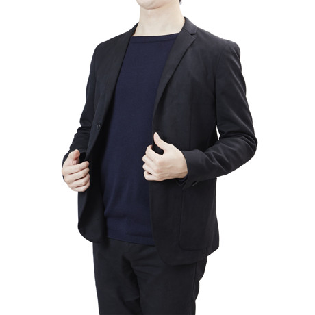 """縫い目がない「カシミア混ニット」 Sサイズ   ジャケットに合わせるだけで""""着こなし""""に磨きがかかる。縫い目がなく、着心地抜群。自宅で洗濯しても伸びにくいホールガーメント・ロングスリーブニット(MONOCO 限定) ネイビー(在庫限り)"""