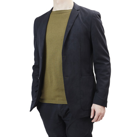 """縫い目がない「カシミア混ニット」 Sサイズ   ジャケットに合わせるだけで""""着こなし""""に磨きがかかる。縫い目がなく、着心地抜群。自宅で洗濯しても伸びにくいホールガーメント・ロングスリーブニット(MONOCO 限定) オリーブ(在庫限り)"""