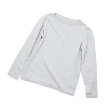 """縫い目がない「カシミア混ニット」 Mサイズ   ジャケットに合わせるだけで""""着こなし""""に磨きがかかる。縫い目がなく、着心地抜群。自宅で洗濯しても伸びにくいホールガーメント・ロングスリーブニット(MONOCO 限定) グレー(在庫限り)"""