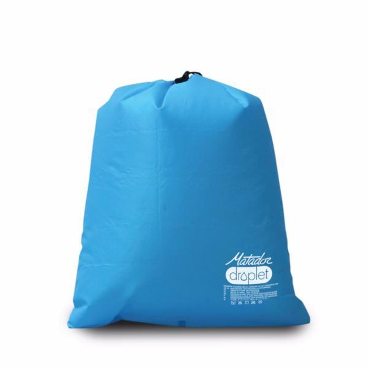手のひらサイズになる大容量バッグ|Sサイズ | 濡らしたくないもの・濡れたものを入れられる、指先サイズになる《完全防水》巾着バッグ | Matador DROPLET WET/DRY BAG