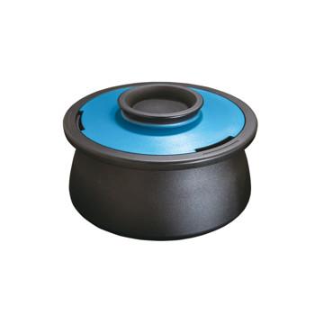 食卓の笑顔をつくる「無水鍋」|VOL(底フラットタイプ)これひとつで7役。桁違いの熱伝導率と遠赤外線放射で、旨味を逃さない。今日から料理上手になれるカーボン(炭)無水鍋 | ANAORI CARBON POT / VOL|ブルー