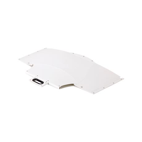 薄さ3センチの「どこでもイス」|大きめサイズ | 使う場所を選ばない、どこにでも持ち歩けるテーブル|PATATTO TABLE|ペールホワイト