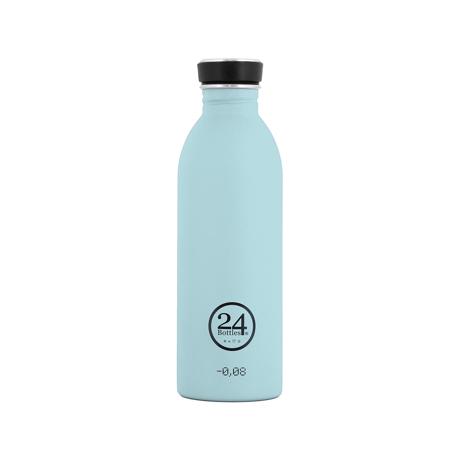 いつでも持ち歩きたくなる「マイボトル」|これ1本で、年間3,000本のペットボトルに相当 - 環境にも優しい、スタイリッシュなイタリアデザイン・ステンレスボトル | URBAN BOTTLE 500ml|クラウドブルー(完売)