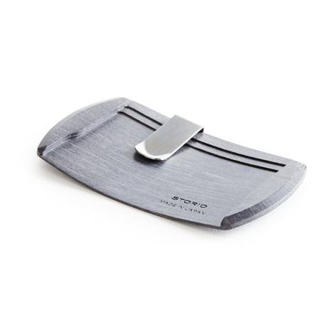 手ぶら外出ができる「木の財布」|《カエデ》カード3枚だけ持って、手ぶら外出できる「木の財布」|Smart Card Clip|ブラック