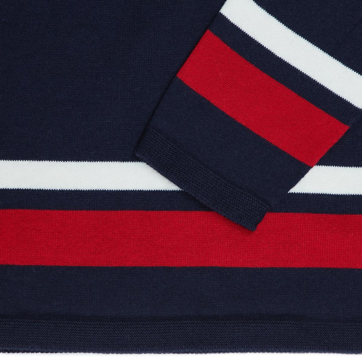 縫い目がない「カシミア混ニット」|Sサイズ(ボーダー)縫い目がない理想的な着心地、ホールガーメント・カシミア混長袖ニット