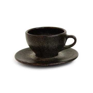 カプチーノ カップ&ソーサー|コーヒー抽出後の豆かすが、こんなお洒落なコーヒーカップに再生!