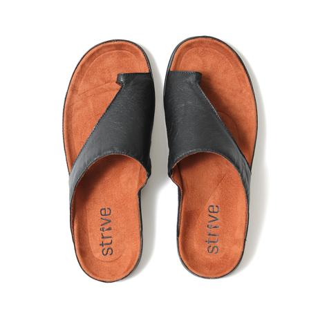 スニーカー感覚で歩き回れる「サンダル」|CAPRIマイクロファイバーインソール (25-25.5cm) 独自開発の立体インソールで、スニーカーみたいに歩き回れる「サンダル」|ブラック