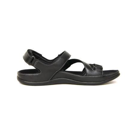 スニーカー感覚で歩き回れる「サンダル」|MONTANA (25-25.5cm) 独自開発の立体インソールで、スニーカーみたいに歩き回れる「サンダル」|ブラック(在庫限り)
