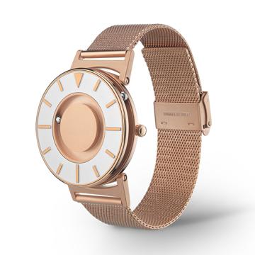 触る時計『EONE』|《MESH GOLD/2色》なめらかな装着感のメッシュバンド、触って時間を知る時計| EONE|ROSE GOLD