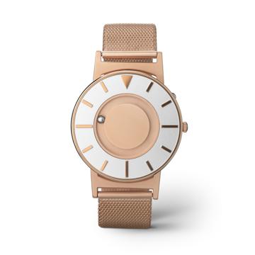 《MESH GOLD/2色》なめらかな装着感のメッシュバンド、触って時間を知る時計| EONE